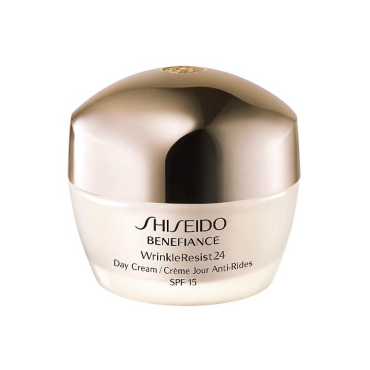 Відновлювальний живильний крем інтенсивної дії Benefiance Wrinkleresist24, Shiseido У складі: антиоксиданти органічного походження, комплекс рослинних масел і вітамін E. Вони допомагають епідермісу утримувати вологу, живлять клітини