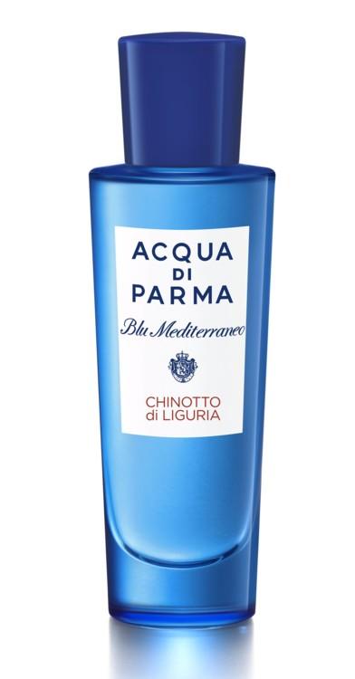 Chinotto di Liguria, Acqua di Parma, с нотами итальянского цитруса кинотто, мандарина, розмарина, герани и жасмина