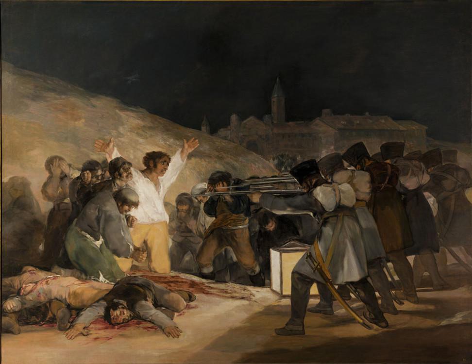«Расстрел повстанцев 3 мая 1808 года в Мадриде», 1814 (Национальный музей Прадо, Мадрид)