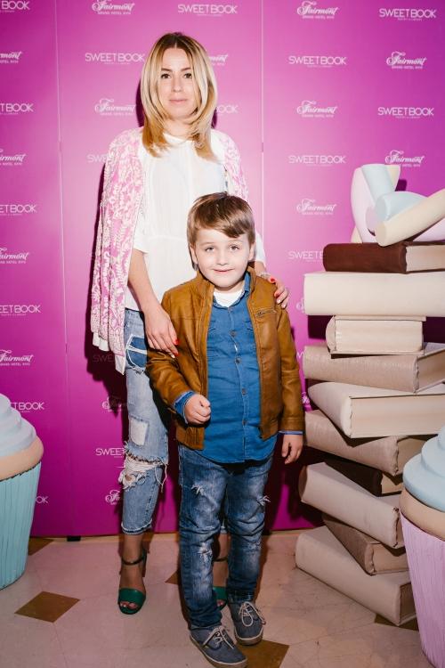 Елена Бурба с сыном