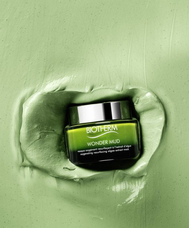 Насыщающая кислородом и выравнивающая микрорельеф кожи маска для лица с экстрактом водорослей Wonder Mud, Biotherm