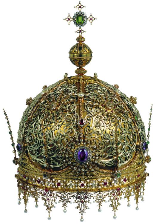 Корона, золото, перидоти, діаманти, рубіни, сапфіри, аметисти, перли, 1900