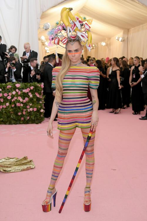 Кара Делевинь в Dior Couture