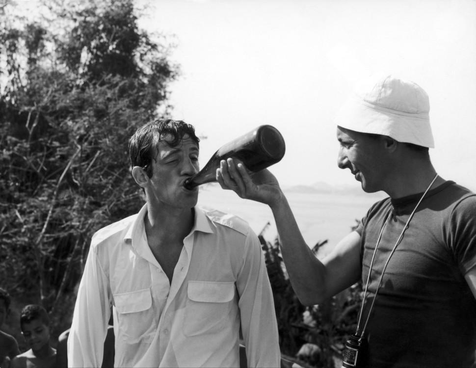 Жан-Поль Бельмондо и Филипп де Брока в 1964 году