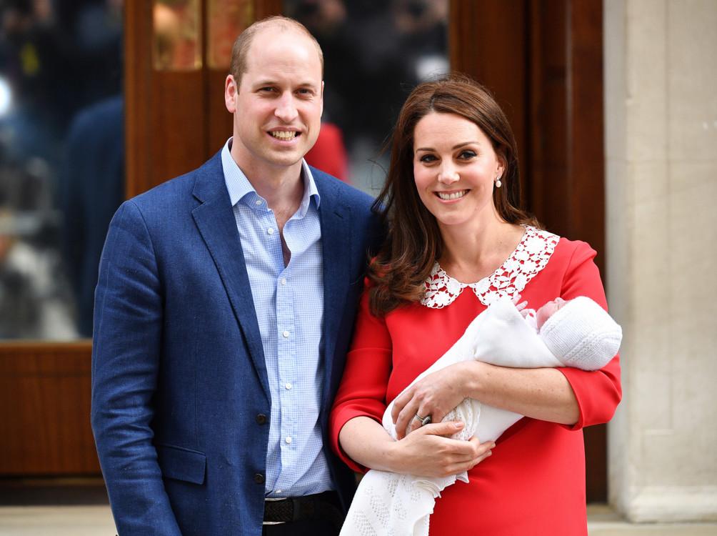 Герцог і герцогиня Кембриджські і їх син Луї
