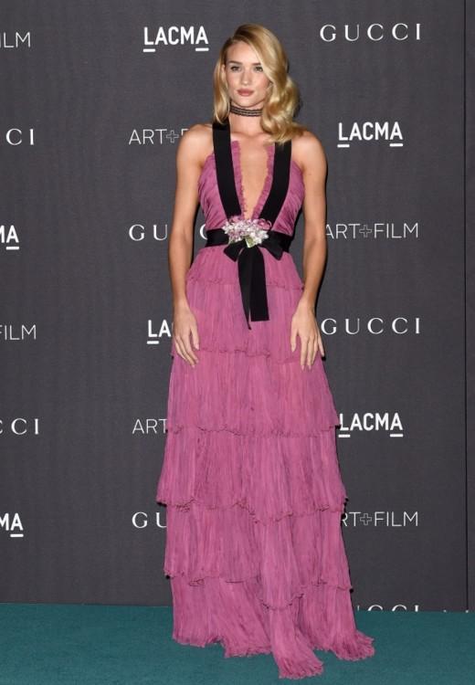 в платье Gucci