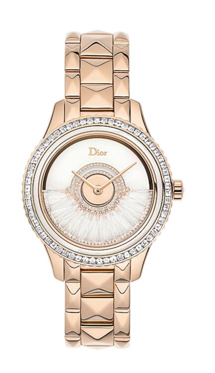 Часы Grand Bal, роторный механизм Dior Inversé, корпус из золота , бриллианты, ротор украшен перьями петуха, Dior Horlogerie