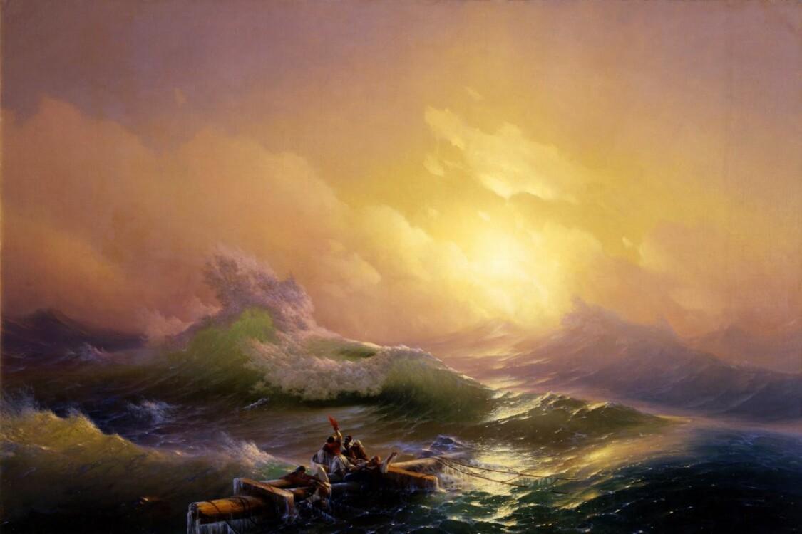 Айвазовский картины «Девятый вал», 1850 (Государственный Русский музей, Санкт-Петербург)