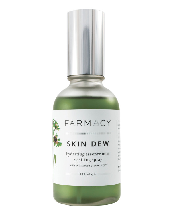 Пробуждающий спрей с экстрактом хвоща, бергамота, мяты Skin Dew, Farmacy