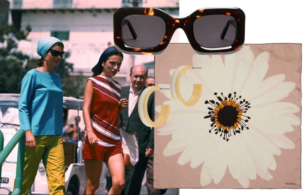 Солнцезащитные очки Arket, шарф Valentino, серьги Isabel Marant