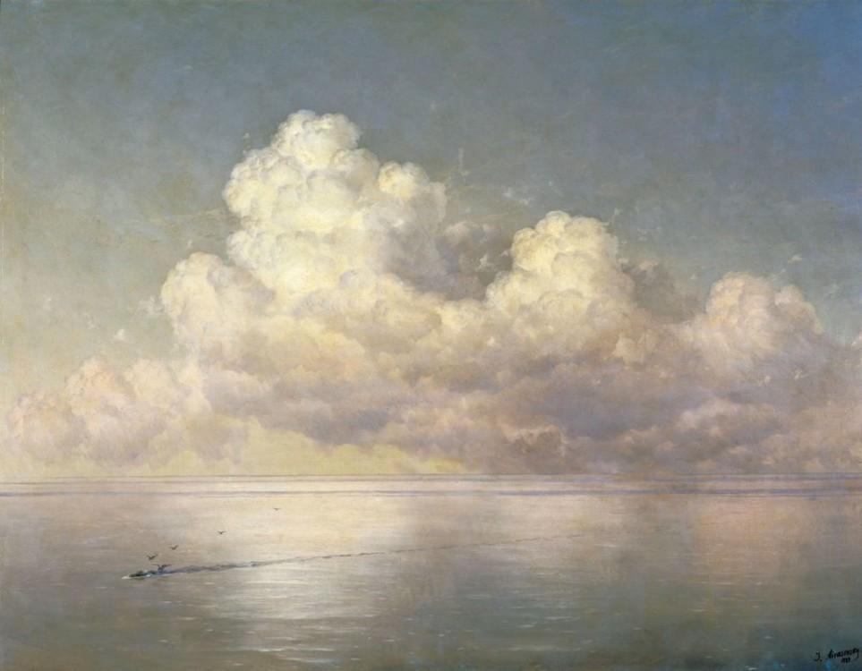 Айвазовский картины «Облака над морем. Штиль», 1889 (осударственный Русский музей, Санкт-Петербург)