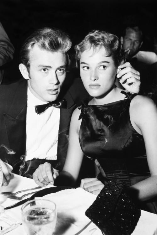 С Джеймсом Дином, сентябрь 1955