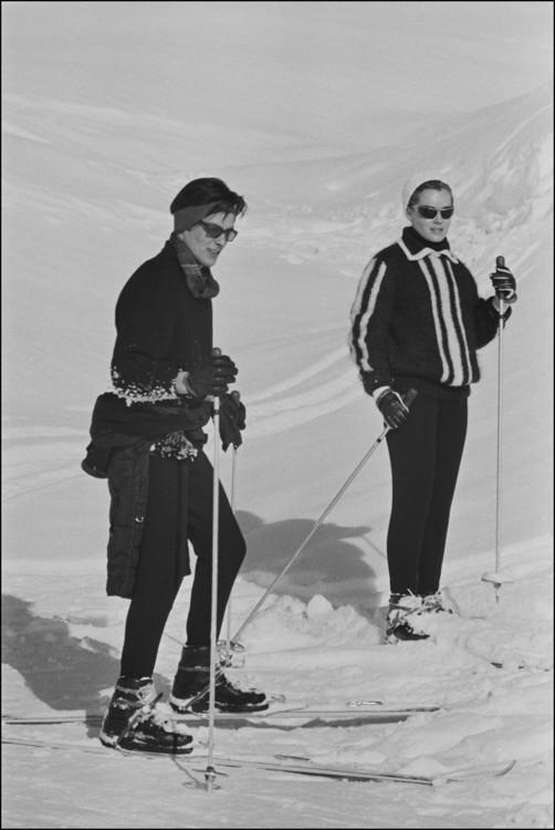 Роми Шнайдер и Ален Делон во Франции, 1963 год