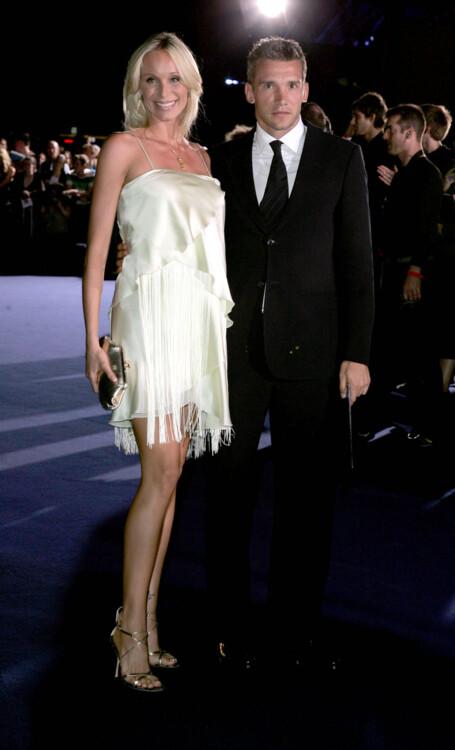 Кристен Пазик и Андрей Шевченко во время Недели моды в Лондоне на Emporio Armani One Night Only, 2006