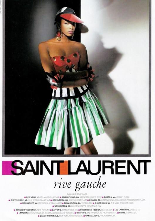 Рекламная кампания Yves Saint Laurent Rive Gauche, 1988 год, фото: Джан Паоло Барбьери
