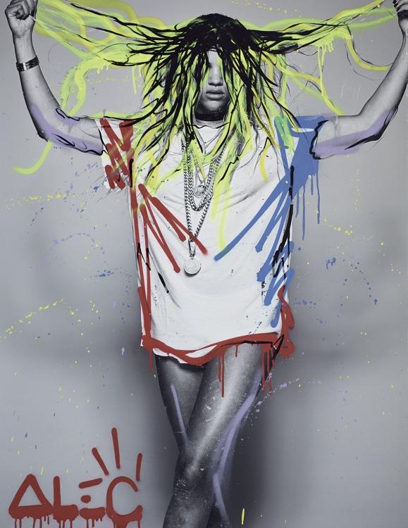 Портрет it-girl Софии Ричи, которые Монополи сделал специально для арт-номера Vogue UA