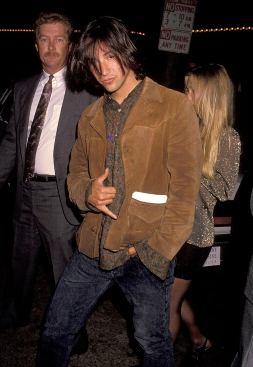 Киану Ривз на премьере фильма «На гребне волны» в Лос-Анджелесе, 1991