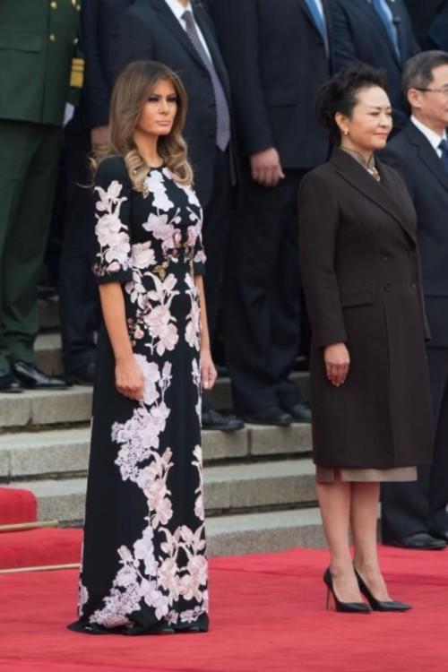 Мелания Трамп в платье Dolce & Gabbana