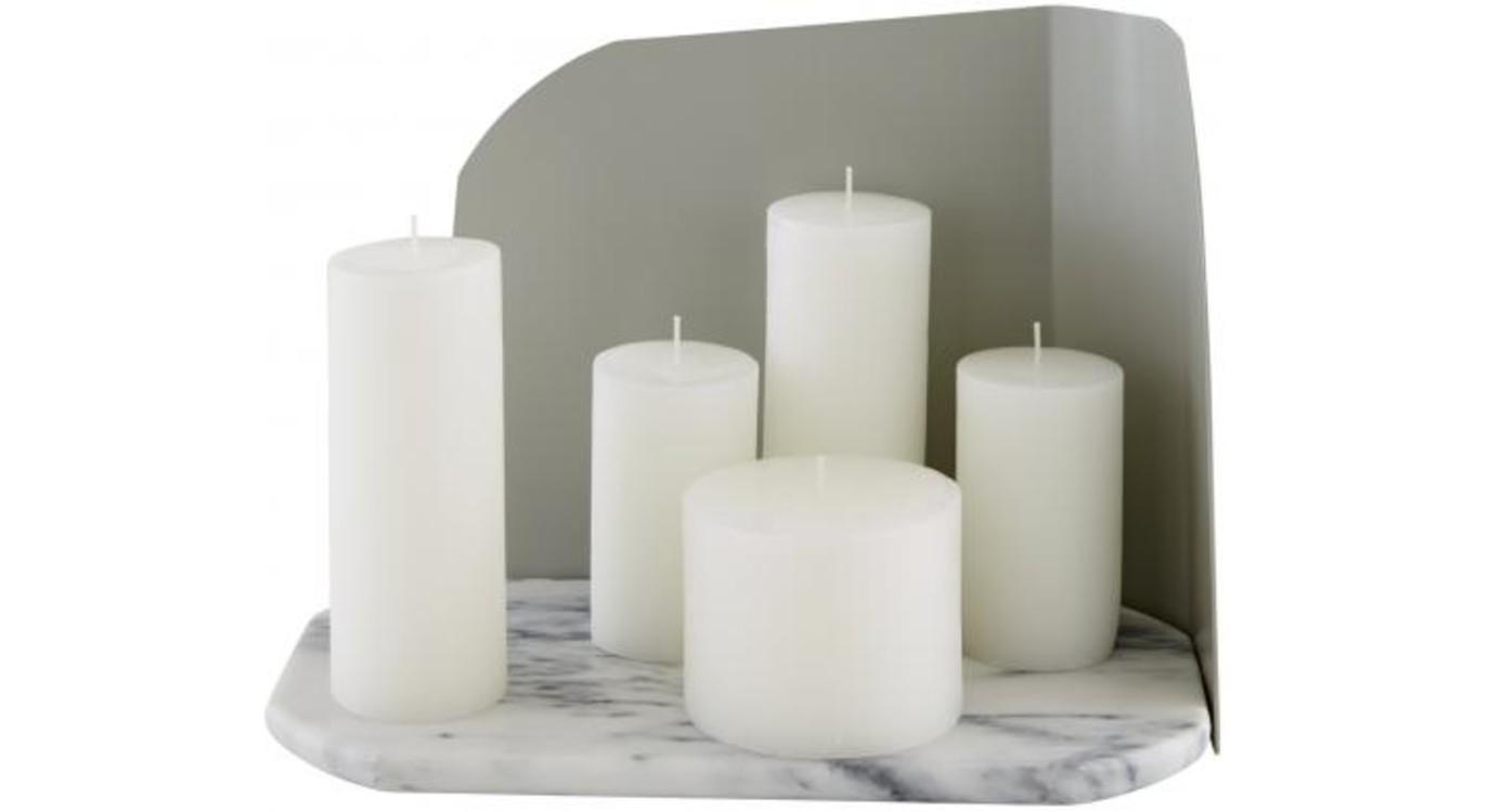 Свічки і підставка для свічок з мармуру, Numero 111 (Ligne Roset)
