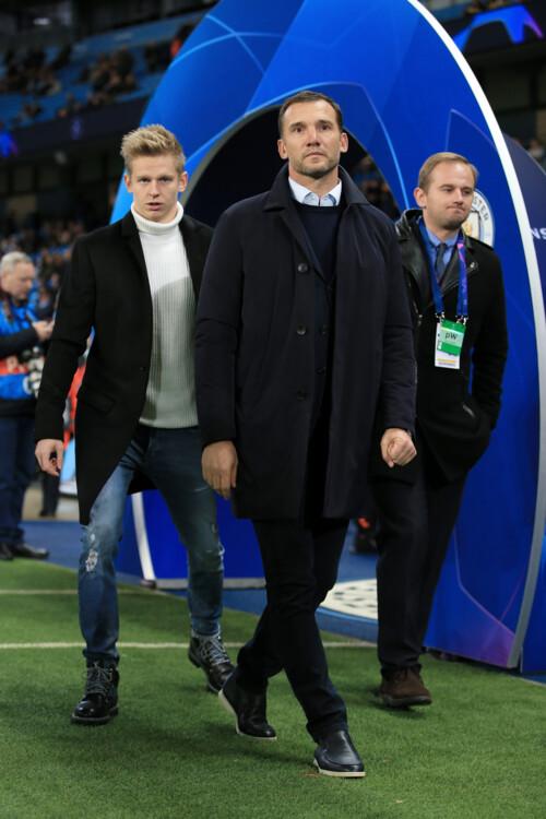 Андрей Шевченко во время матча «Манчестер Сити» и «Шахтер» в Манчестере, 2019