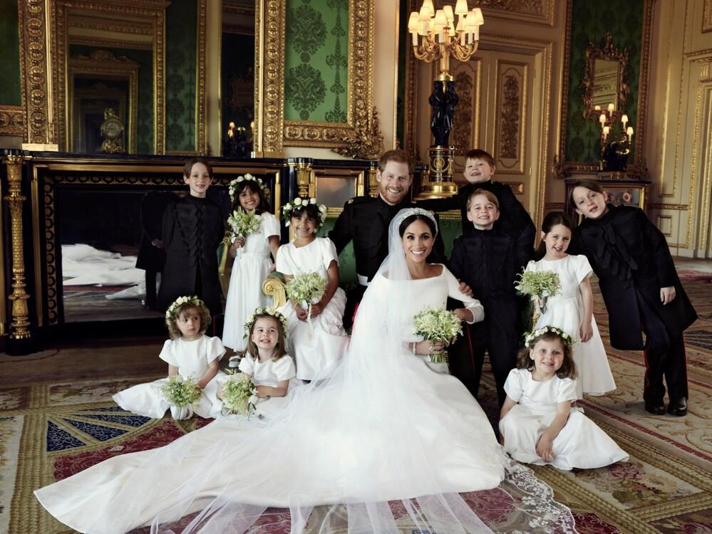 Принц Джордж і принцеса Шарлота на весіллі Меган Маркл і принца Гаррі, 2018