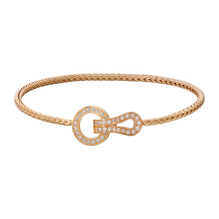 Браслет Agrafe, розовое золото, бриллианты