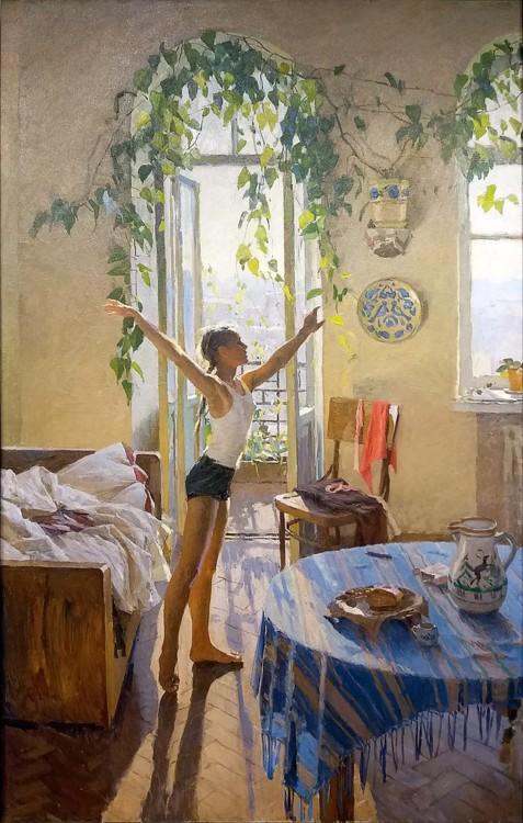 """""""Утро"""", 1954 год (в коллекции Третьяковской галереи)"""