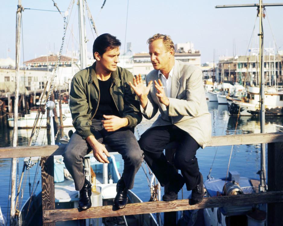 Ален Делон и Ральф Нельсон, 1965 год