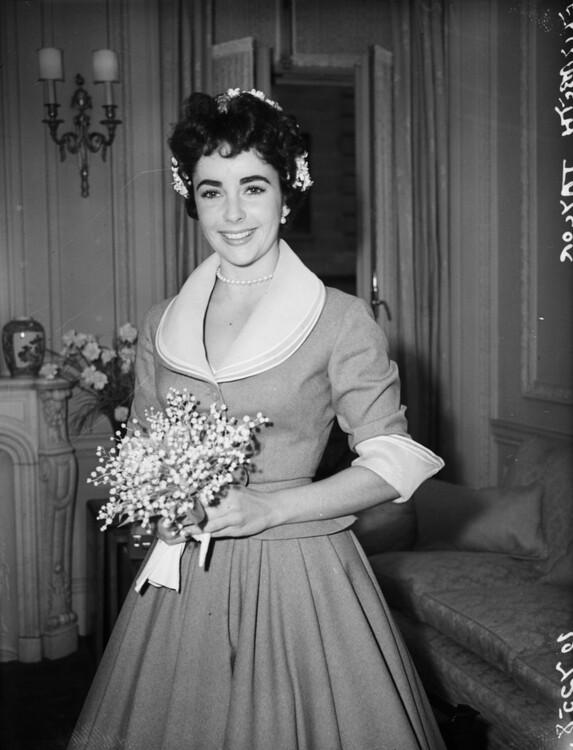 Свадебный образ Элизабет Тейлор, 1952