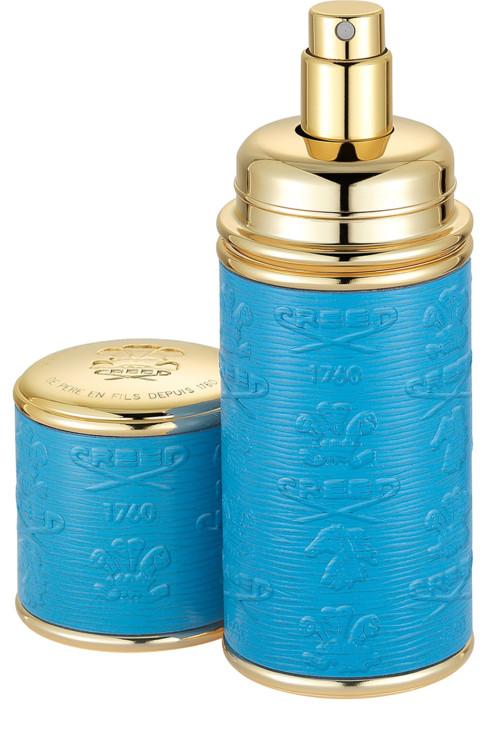 Тисненая итальянская кожи, золотая отделка, объем 10 мл, которого хватит на две недели пользования – это роскошная версия атомайзера Creed