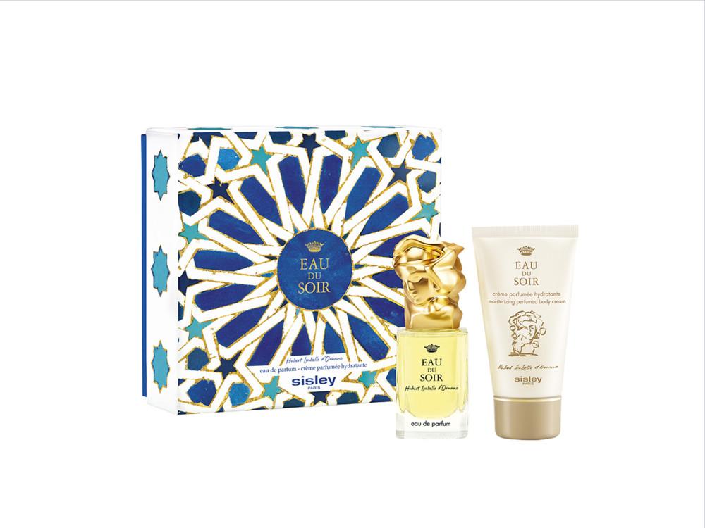 Рождественский набор Eau du Soir, парфюмированная вода и увлажняющий парфюмированный крем для тела, все – Sisley