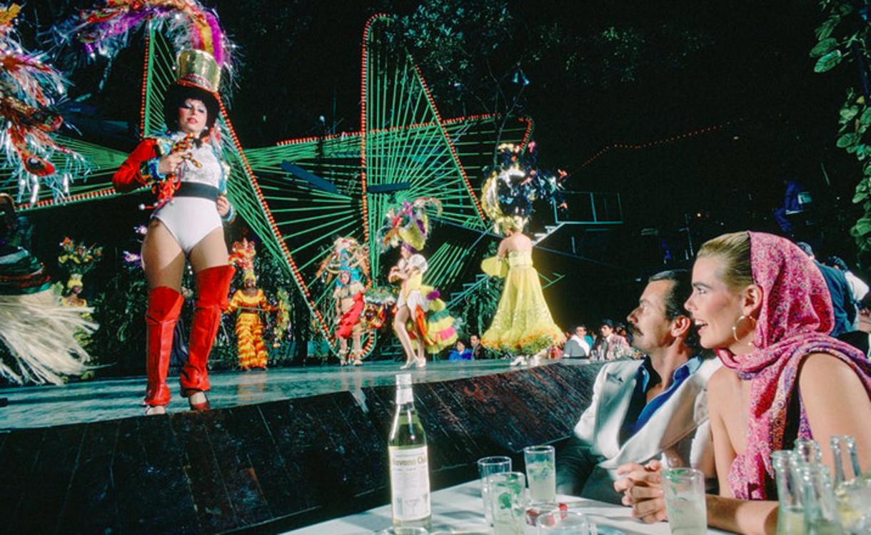 Марго Хемингуэй и Бернар Фоше в клубе Tropicana в Гаване, 1978