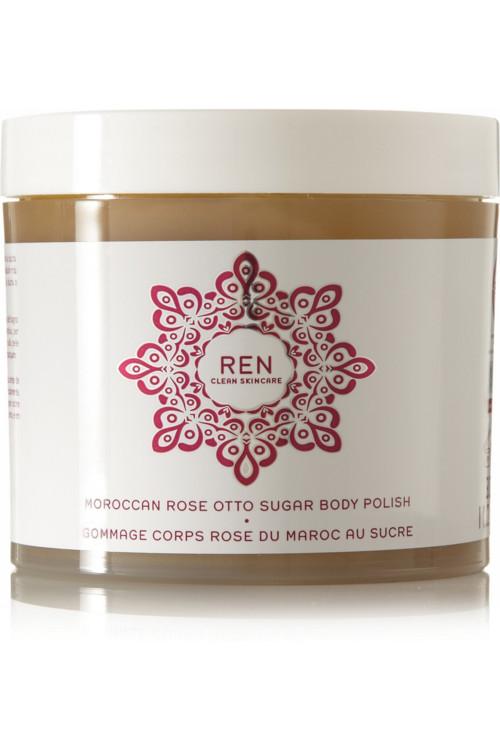 Сахарный скраб для тела с марокканской розой, REN