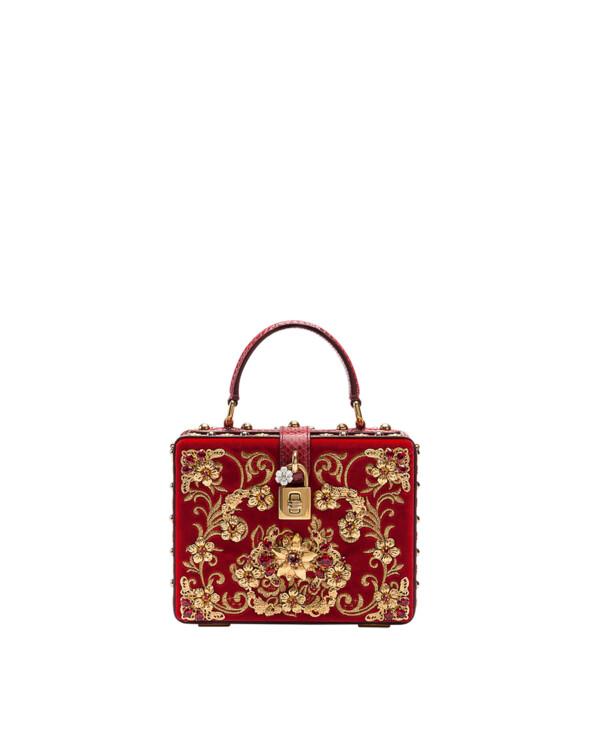 Cумка из бархата и кожи, Dolce & Gabbana