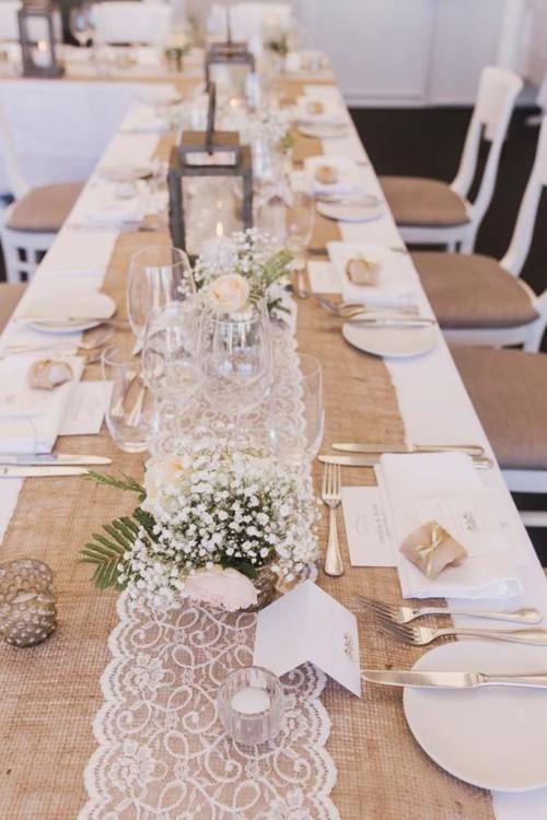 Оформление свадебного стола на простую деревенскую тематику с натуральными элементами. фото