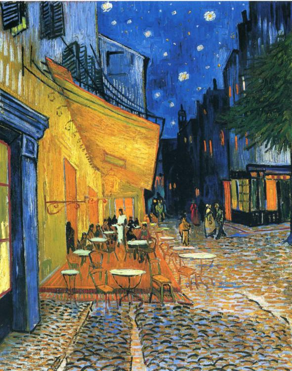 """""""Нічна тераса кафе"""", 1888, Музей Креллер-Мюллер, Оттерло, Нідерланди"""