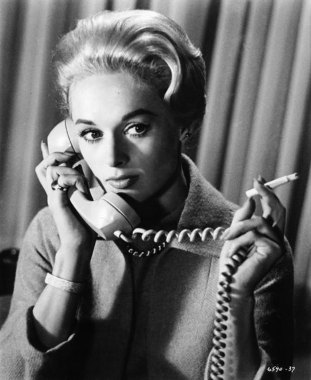Тіппі Хедрен у фільмі «Птахи», 1963 рік