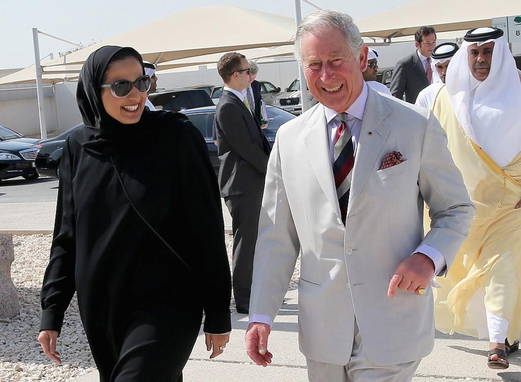Шейха Аль Маясса и принц Чарльз