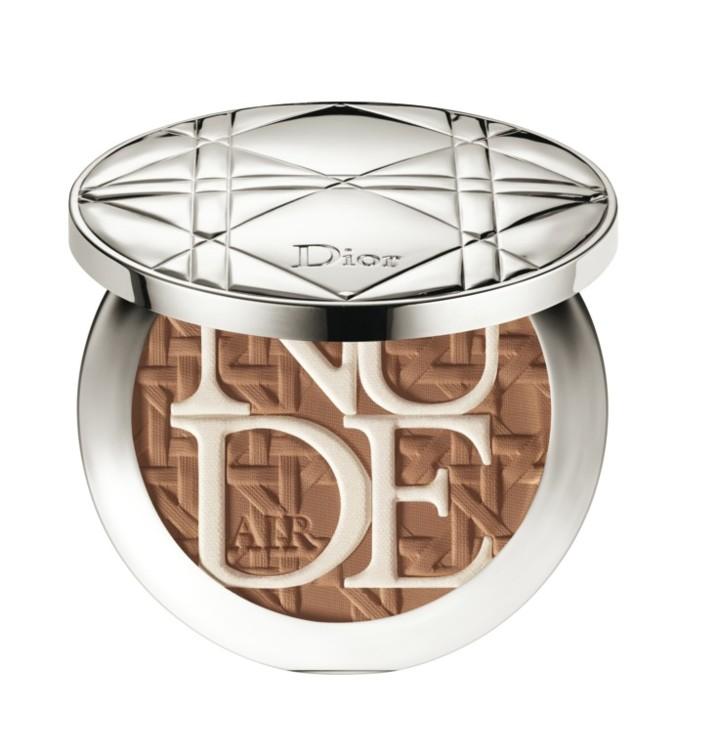Пудра c естественным сияющим покрытием Diorskin Nude Air из летней коллекции макияжа Dior Care & Dare, №003 Bronze Tan, лимитированный выпуск