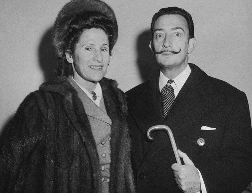 Сальвадор Дали и его жена Гала на борту Vulvania в Нью-Йорке