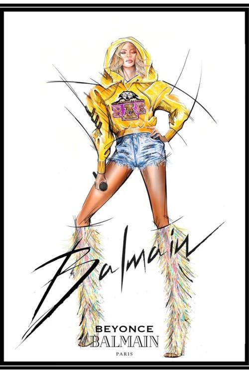 Ескізи вбрання для першого виступу Бейонсе на Coachella 2018