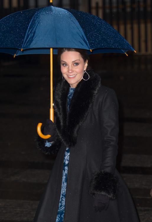 Пальто Ida Sjöstedt, платье Erdem, туфли Gianvito Rossi, меховые манжеты и воротник Troy London