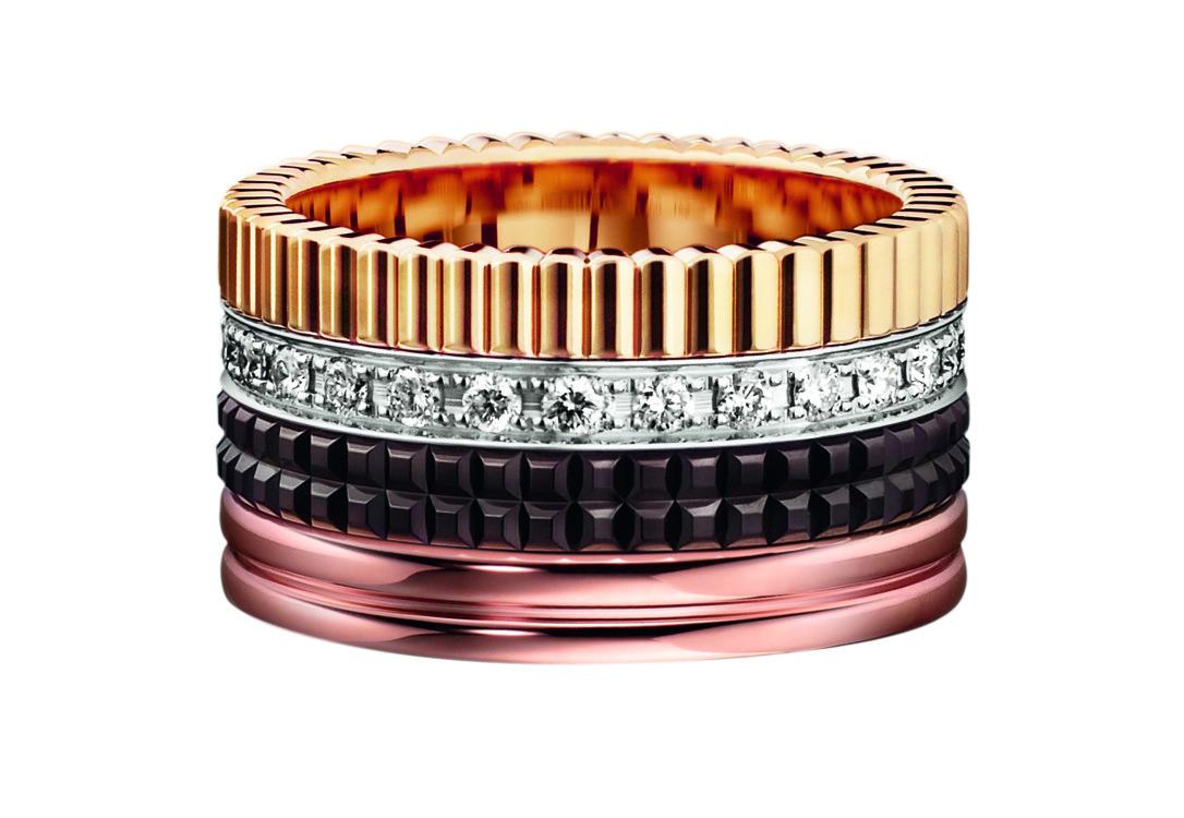Кольцо Quatre Classic Edition large с бриллиантами
