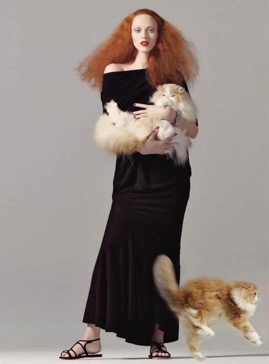Модель Карен Элсон в роли Грейс Коддингтон, Vogue US 2008