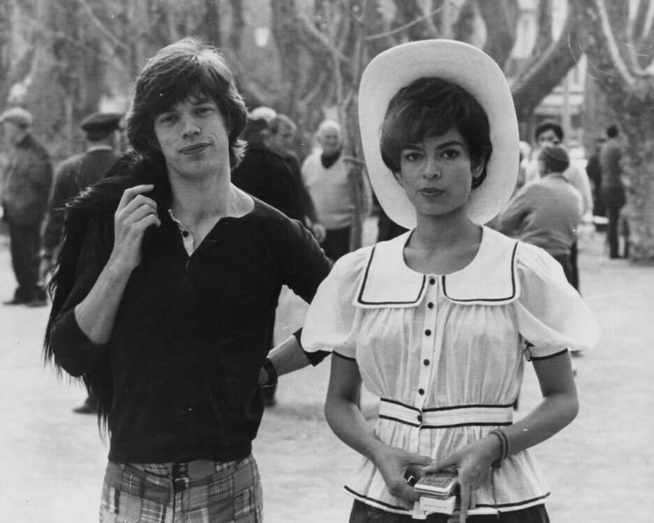 Мик Джаггер и Бьянка Перес Морена на юге Франции, май 1971