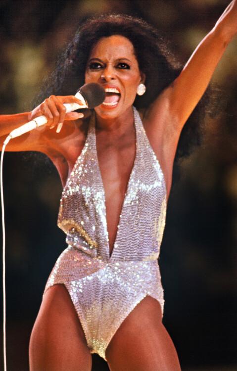 Дайана Росс выступает в Роттердаме, 1982