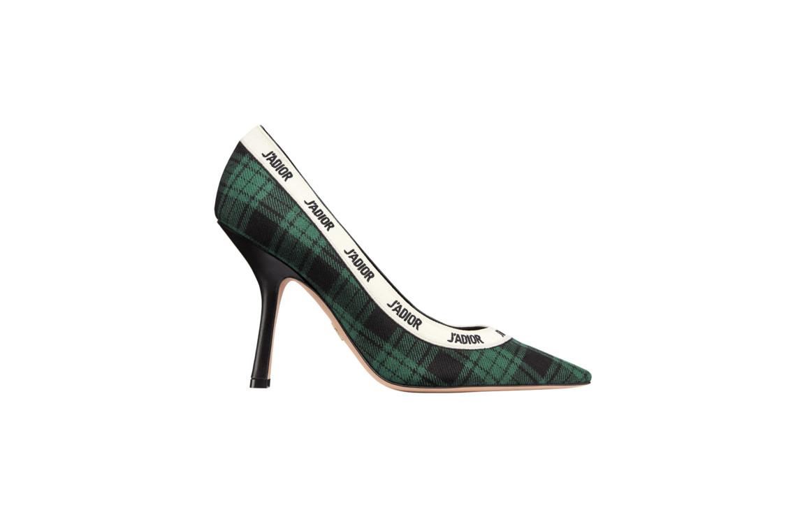 Туфли из шерстяной ткани и кожи, Dior