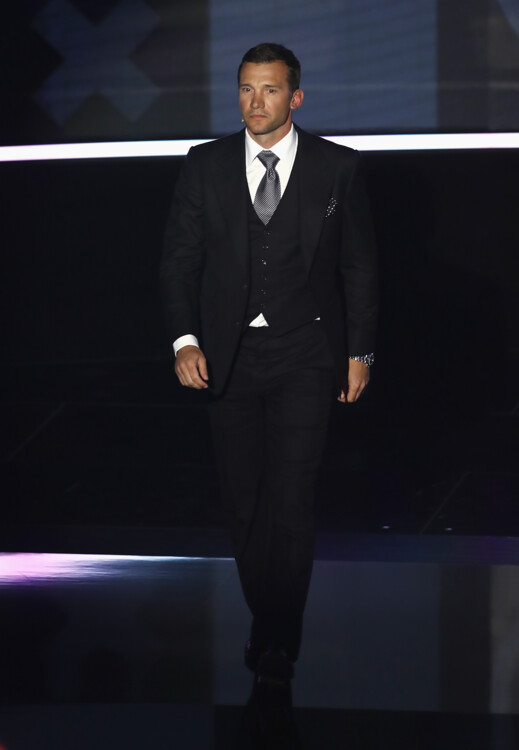 Андрей Шевченко во время церемонии награждения Best FIFA Football Awards, 2017