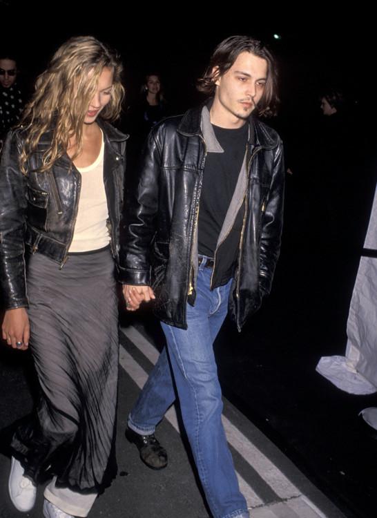 Кейт Мосс и Джонни Депп, 1994