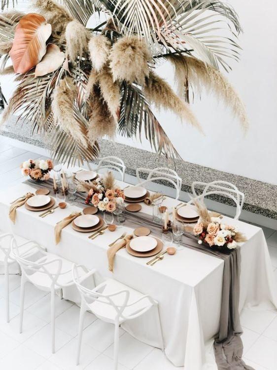 Оформление свадебных столов в стиле бохо. фото